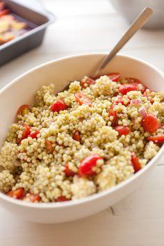 Israeli Couscous Pesto Salad, Wholeliving.com #lunchbunch
