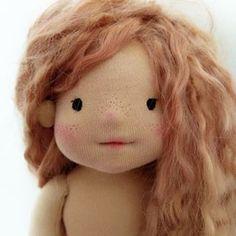 Custom cutie 💖 . . . . . . . . #waldorfinspireddoll #naturalfiberartdoll #slowdoll #waldorfdoll #steinerdoll #handmadedoll #clothdoll #dollmakingprocess #dollstagram #redhead #freckles #cheeky #muneka #lalka #ooakdoll #customdoll #artdoll Ooak Dolls, Art Dolls, Pavlova, Custom Dolls, Freckles, Redheads, Doll Clothes, Teddy Bear, Animals