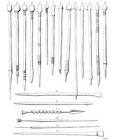 A plate of styli, 'pens' for writing on wax tablets