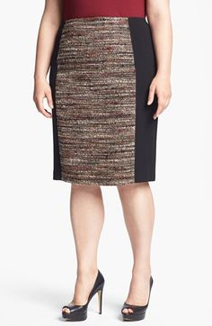 Lafayette 148 New York 'Christina' Tweed Pencil Skirt (Plus Size) | Nordstrom