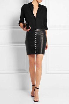 345a89741 15 mejores imágenes de mini falda cuero en 2018