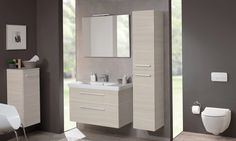 Ensemble 2Day II de Villeroy & Boch coloris Light Wood Bathroom Cabinets, Cabinet Design, Powder Room, Vanity, Wood, Bathroom Ideas, Bathrooms, Home Decor, Images