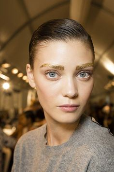 Christian-Dior Spring 2014 gold make-up