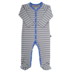 An incredibly soft organic ring-spun cotton baby romper. Featuring a two-tone color block henley style in grey and colbat blue. FEATURES: Tagless neck fro additional comfort Nickel-free snaps Snug fitting Made in San Francisco USA Baby Wearing, Snug, Rompers, Organic, V Neck, Swimwear, How To Wear, Shopping, Collection