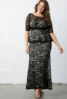 Plus Size Black Lace Overlay Special Occasion Peplum Maxi Dress. Black Lace Overlay Long Sleeve Evening Peplum Maxi Gown Plus Size. pretty peplum of this elegant evening dress adds feminine flair to this flattering floor length mermaid style #PlusSize #PlusSizeFashion #PlusSizeStyle  #CurvyGirl #plussizedivas #boldcurvyfashionista #curvy #curvyfashionista Plus Size Occasion Dresses, Plus Size Gowns Formal, Plus Size Lace Dress, Plus Size Evening Gown, Lace Evening Gowns, Special Occasion Dresses, Plus Size Dresses, Full Figure Dress, Trendy Plus Size Fashion