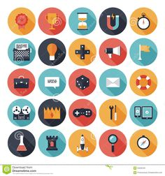 Game Design Flat Icons Set - Download From Over 41 Million High Quality Stock Photos, Images, Vectors. Sign up for FREE today. Image: 34525187
