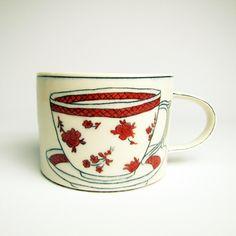 """Molly Hatch, Mug, 2010, Porcelain, 5""""L x 4""""W x 3""""H, $120.00"""