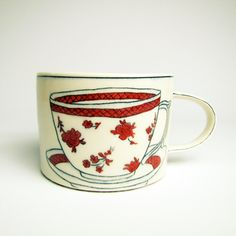 "Molly Hatch, Mug, 2010, Porcelain, 5""L x 4""W x 3""H, $120.00"