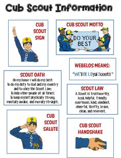 Playful image intended for cub scout oath printable
