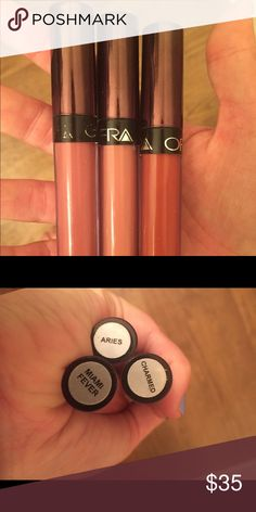OFRA Liquid Lipstick Bundle MANNYMUA & KathleenLights collabs, in colors Miami Fever, Aries, and Charmed! I've only worn each shade 2-3 times. Ofra Makeup Lipstick