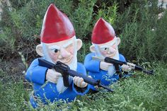 Combat Garden Gnomes. Maybe with flamethrowers instead... hehehe.