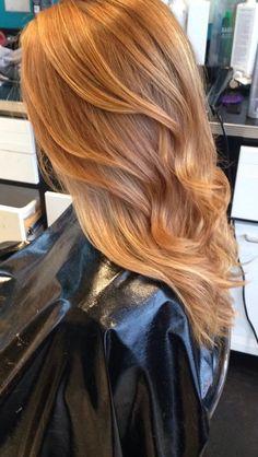 Strawberry Blonde Balayage Hair