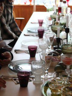 February 12, Marimekko, House Goals, Glass Design, Tumbler, Table Settings, Dinner, Tableware, Interior