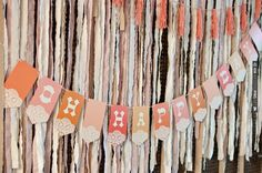 Bunting and streamers. Shot by Rustic White Photography | VIA #WEDDINGPINS.NET
