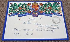 Vintage 1941 GPO King George VI Greetings Telegram  Post King George, Ephemera, Illustrators, Bullet Journal, Vintage, Illustrator, Vintage Comics, Illustrations