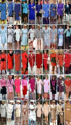 Lady Diana Princess of Wales in a rainbow of coats and dresses with buttons Princess Diana Dresses, Princess Diana Fashion, Prinz William, Prinz Harry, Lady Diana Spencer, Royal Princess, Prince Of Wales, Queen Of Hearts, Artemis