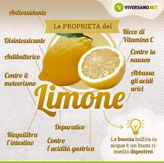 Le proprietà del Limone Properties of Lemons Salute e Alimentazione Wellness Fitness, Health And Wellness, Health Fitness, Fit Girl, Juice Plus, Fresh Fruits And Vegetables, Herbal Medicine, Eating Well, Clean Eating