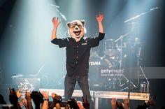 Jean-Ken Johnny from Man with a Mission performs at La Machine du Moulin Rouge…