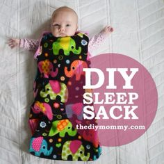 baby diy Simple and cute baby sleep sack tutorial with a free pattern. Baby Sewing Projects, Sewing Projects For Beginners, Sewing Tutorials, Tutorial Sewing, Sewing Ideas, Easy Projects, Sewing Tips, No Sew Projects, Diy Tutorial