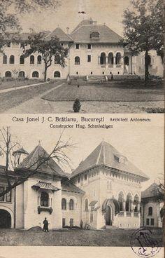 """Casele """"Ion I. C. Brătianu"""", Biserica Amzei nr. 3-5, București - arh. Petre Antonescu"""