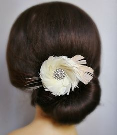 Feather Themed Wedding - feather hair accessory (by fancie strands)  Seriously live this!!!!