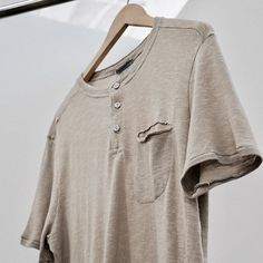 New, Raw Edge Henley