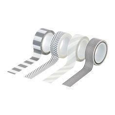 FULLFÖLJA Roll of tape, gray black, white