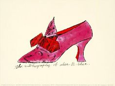 New Fashion Drawing Shoes Andy Warhol Ideas Andy Warhol Pop Art, Blue Brogues, Pop Art Movement, Pretty Drawings, Shoe Art, Painted Shoes, New Print, Red Shoes, Ikon
