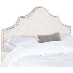 Accent your master suite or guest room bedding with this essential headboard, the perfect anchor for your restful retreat.