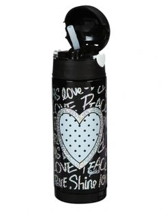 Love Polka Dot Insulated Water Bottle
