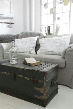 Pottery Barn Knock Off Trunk Coffee Table Follow The Video - Grey chest coffee table