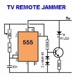 tv jammer. 555 Timer TV Remote Jammer Circuit Kit Tv