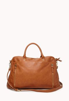 OTOÑO 2014 FOREVER 21 Faux Leather Duffle Bag €33,90