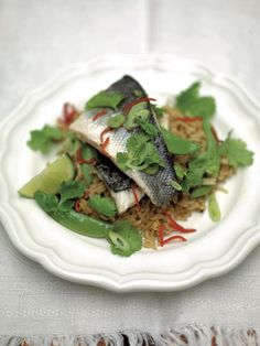 Steamed Thai-style sea bass & rice | Jamie Oliver | Food | Jamie Oliver (UK)