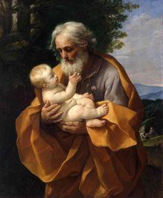 st joseph the worker paintings   Guido Reni, St. Joseph with the Infant Jesus Italian, 1620s St ...