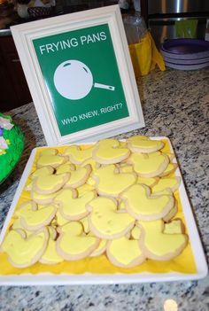 Snuggly Duckling cookies Tangled Party - I had to order a duck cookie cutter from Amazon but it was worth it to have this touch for Ava Tangled B-day party (I like the sign I used better hehe)