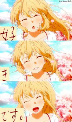 shigatsu wa kimi no uso , your lie in april, anime , romance , love Sad Anime, Me Me Me Anime, Anime Love, Manga Anime, Hikaru Nara, Otaku, Miyazono Kaori, Anime English, Your Lie In April