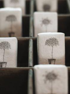 Pretty soap packaging <3