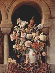 Vase of Flowers on the Window of a Harem (1881) by Francesco Hayez, Palazzo Brera, Milan, Italy