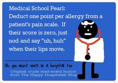 More ER pain scale humor explored...