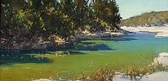 Hill Country Creek by Jill Carver Oil ~ 24 x 48