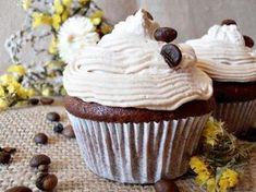 Briose cu ciocolata si cafea - CAIETUL CU RETETE Muffins, Panna Cotta, Food And Drink, Cupcakes, Cooking, Sweet, Sweets, Fine Dining, Kitchen