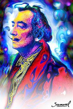 A portrait of the master...Dali by Samarel. www.samareldesign.com