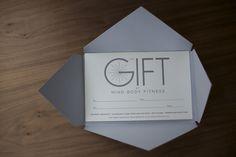 letterpress gift certificate