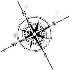Distressed Compass Rose / Nautical Tattoo Symbols Free