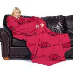 Arkansas Razorbacks NCAA Adult Comfy Fleece Throw