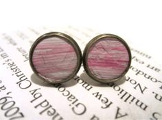 Pale Pink Baby Pink Pastel Pink Leather Stud by MullaneInk on Etsy