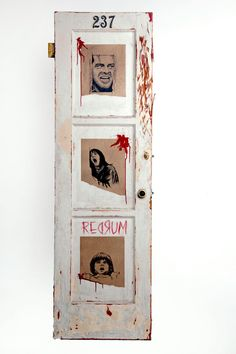 STAY OUT! The Shining door Room 237 Stanley Kubrick REDRUM Halloween decorations Horror movie set props
