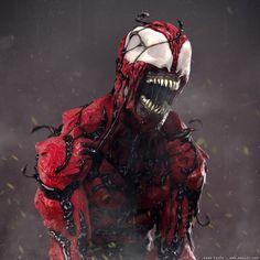 HeroChan — Carnage Symbiote Created by Adam Sacco Marvel Art, Marvel Dc Comics, Marvel Heroes, Marvel Characters, Carnage Symbiote, Spider Carnage, Venom, Spiderman, Batman Vs Superman