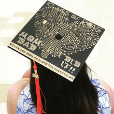 My Computer Science Graduation Cap Graduation Portrait